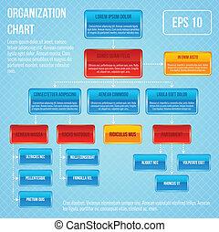 organisational, tabel, infographic