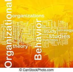 organisationnel, concept, comportement, fond