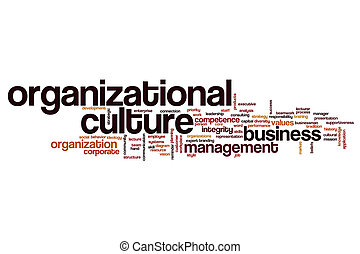 organisationnel, culture, concept, mot, nuage