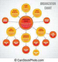 organisationnel, infographic, diagramme