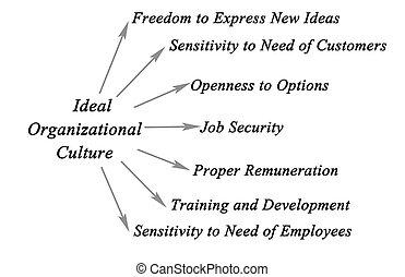 organisatoriska, kultur, idealisk