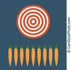 organisch, doel, zakelijk, boerderij, concept., wortels, bladeren, fris
