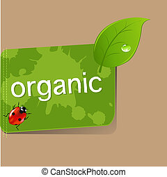 organisch, etiket