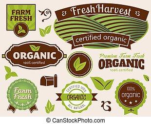 organisch, etiketten