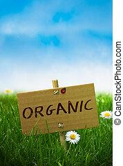 organisch, meldingsbord, natuurlijke , land