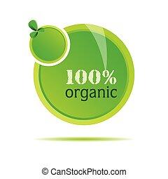 organisch, vector, groene, illustratie, natuur