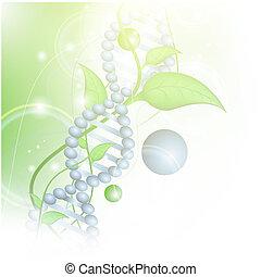 organisch, wetenschap, thema, met, dna