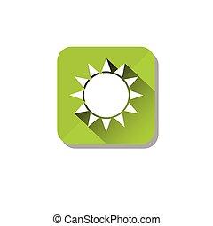 organisch, zonne, eco, zon, energie, milieu, schoonmaken, care, pictogram