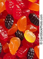 organische , fruechte, gummiartig, knabberzeug, für, kinder