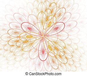 organische , illustration., bunte, muster, abstrakt, blossom., image., fractal, –, hintergrund, forms., zoomed, blume, geometrisch, rgeöffnete, zellen, geometrisch