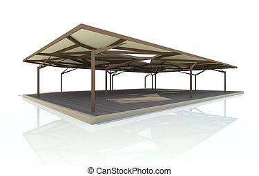 organische , pavillion, struktur