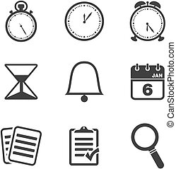 organiser icon sets - suitable for user interface