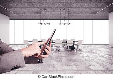 organiseren, een, vergadering
