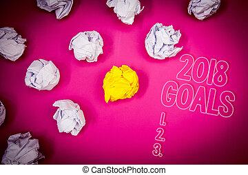 organisieren, 3.., foto, gelber , papier, boden, rosa, anfänge, klumpen, schreibende, merkzettel, 2018, weißes, lob, pläne, geschaeftswelt, ausstellung, ziele, schatten, 2., grobdarstellung, letters., zukunft, showcasing, auflösung, 1.