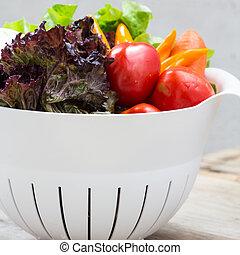 organisk, grönsaken