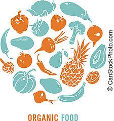 organisk mad, vektor