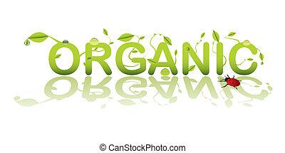 organisk, text