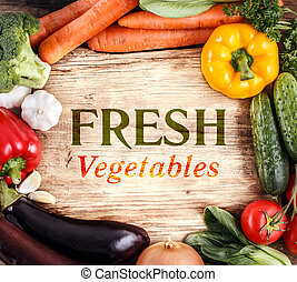 organisk, Utrymme, grönsaken,  Text, mat, ved, bakgrund
