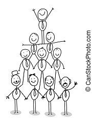 organizacja, teamwork, wykres