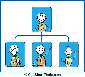 organizacja, wektor, wykres