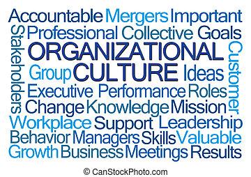 organizacyjny, kultura, słowo, chmura