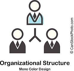 organizacyjny, mono, budowa, ilustracja, kolor