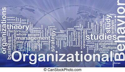 organizacyjny, pojęcie, zachowanie, tło