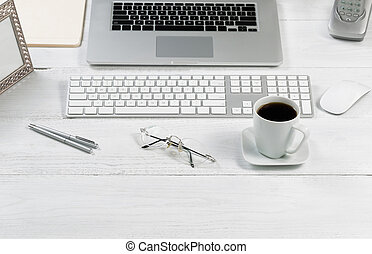 organizado, desktop, configurar, para, trabalho, eficiência