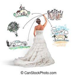 organizador, boda