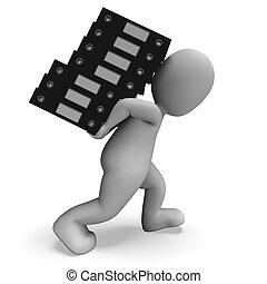 organizar, arquivos, mostrando, organizado, registros