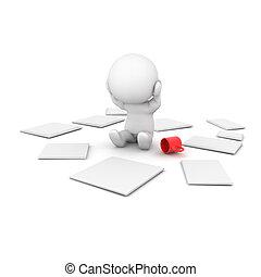 organizar, enfatizado, carácter, el suyo, because, papeles, 3d, afuera, can't, él