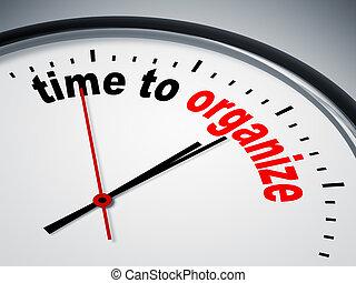 organizar, tiempo