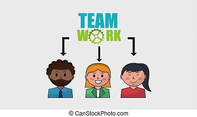 organization chart people employee teamwork animation hd