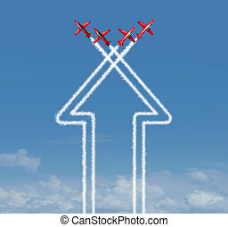Organization Concept - Organization concept as an up arrow ...