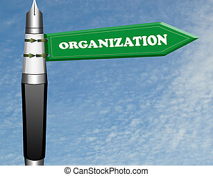Organization road sign
