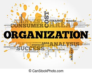 ORGANIZATION word cloud collage