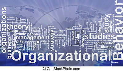 Organizational behavior background concept