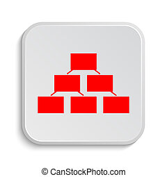 Organizational chart icon. Internet button on white ...