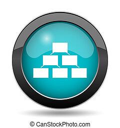 Organizational chart icon. Organizational chart website...