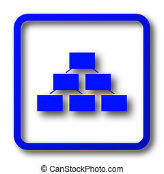 Organizational chart icon. Organizational chart website...