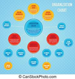 Organizational chart infographic business flowchart work ...