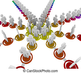 Organizational Chart - Links - People linked together in a...