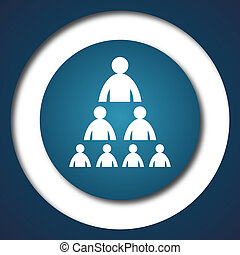 Organizational chart with people icon. Internet button on ...