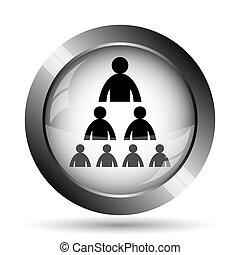 Organizational chart with people icon. Organizational chart...