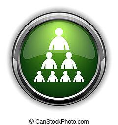 Organizational chart with people icon0 - Organizational...