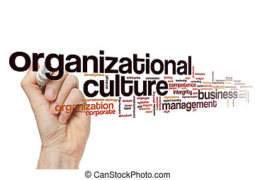 Organizational culture word cloud concept - Organizational...