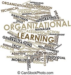 Organizational learning - Abstract word cloud for...