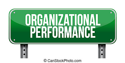 organizational performance road sign concept