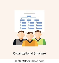 Organizational structure. Organization diagram. flat design.