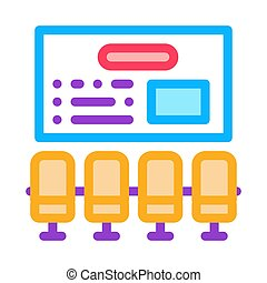 organizational workplace icon vector outline illustration - ...